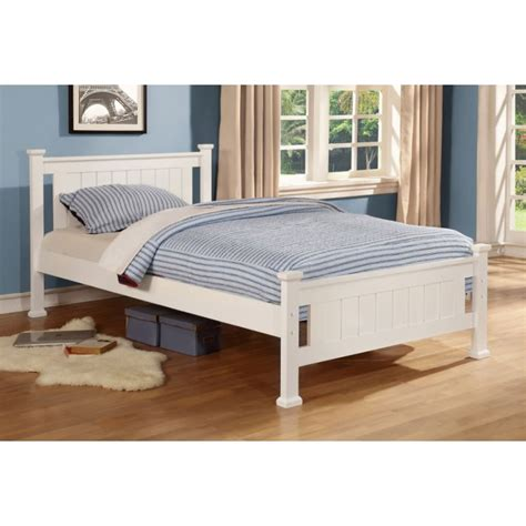 Veronica King Single Size Wooden Bed Frame In White Buy King Single Size Bed Frame