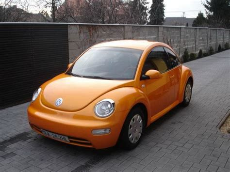 orange volkswagen beetle volkswagen newbeetle orange