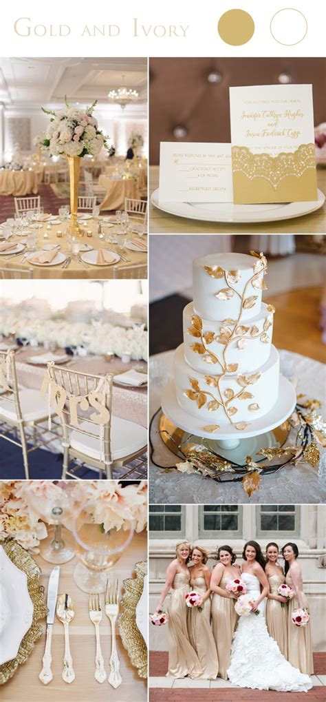 2017 color schemes 2017 wedding color scheme trends gold and ivory stylish