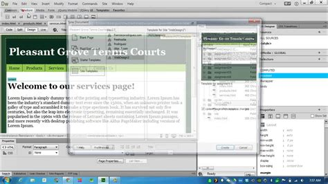 templates for dreamweaver cc create templates in dreamweaver cc