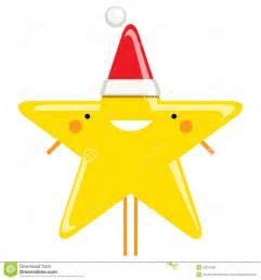Happy simple cartoon smiling christmas star santa claus characte