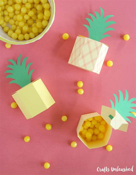 Pineapple Paper Craft - gift box template diy pineapple treat boxes consumer crafts