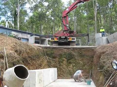 Earth Bermed Home Plans 1 of 3 timelapse constructing the concrete fire shelter