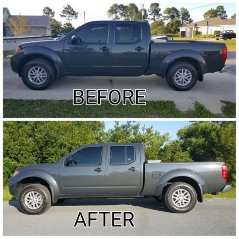 nissan frontier lift kit before and after rough country nissan frontier leveling kit