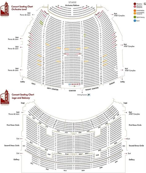 fox theater floor plan fox theater atlanta floor plan gurus floor