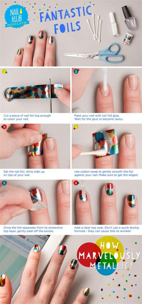 Steps To A Diy Manicure by Diy Fantastic Foils Nail Fabdiy