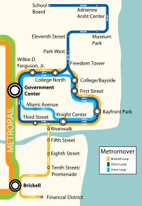 Miami Metromover Map by List Of Miami Dade Transit Metro Stations Wikipedia The