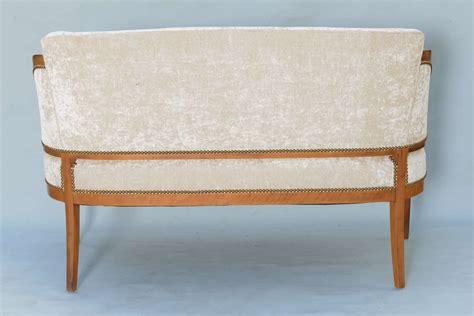 biedermeier settee biedermeier style upholstered settee at 1stdibs
