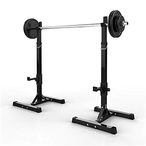 dumbbell bench press rack dqs pair of adjustable squat rack barbell stands free