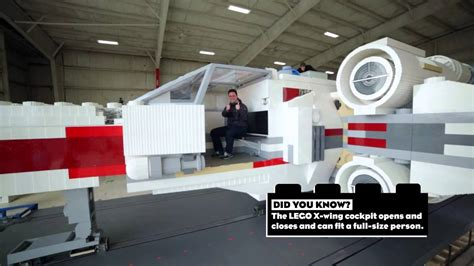 lego boat full size behind the scenes building the life size lego x wing