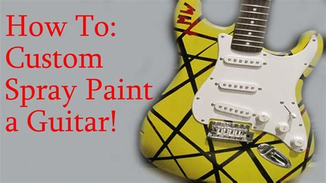 how to keep spray paint how to spray paint a guitar