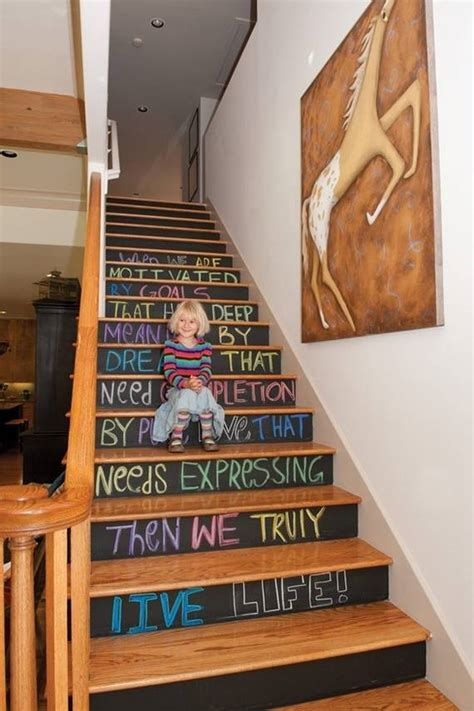 Top 25 Home Stairs Decorating DIY Projects   Architecture & Design