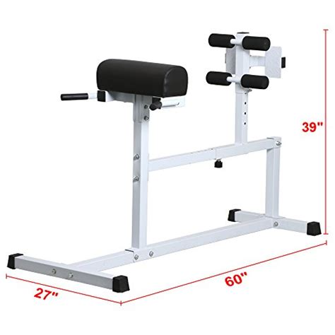 hyperextension bench workouts yaheetech hyper extension workout training bench fitness