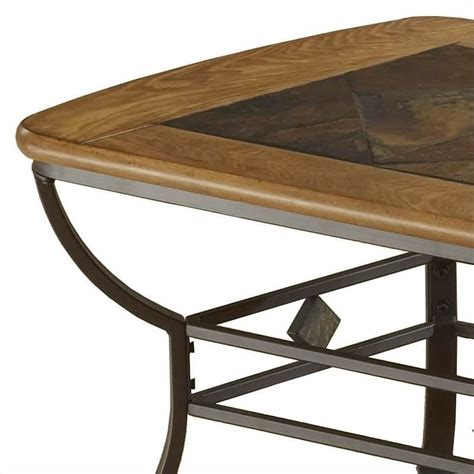 hillsdale lakeview rectangle slate top coffee table in