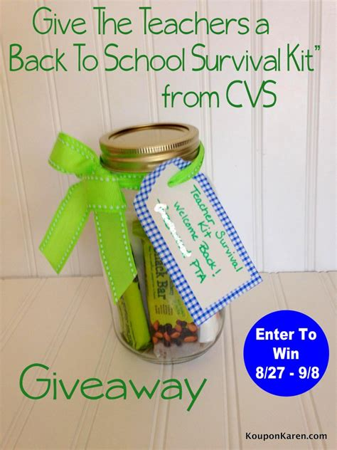Teacher Giveaways - give the teachers a back to school gift from cvs giveaway