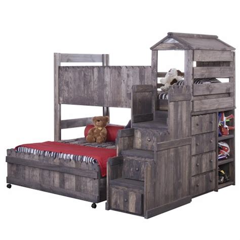 fort bunk bed trendwood the fort twin full complete loft fort bed with