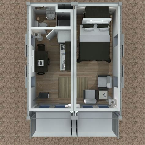 20ft container house designs 2 215 20 foot container house v2 above