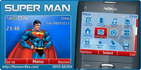 nokia c3 themes superman super man theme for nokia c3 x2 01 themereflex