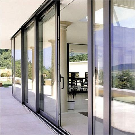 Wood And Aluminum Exterior Sliding Glass Doors Glass Sliding Doors Exterior