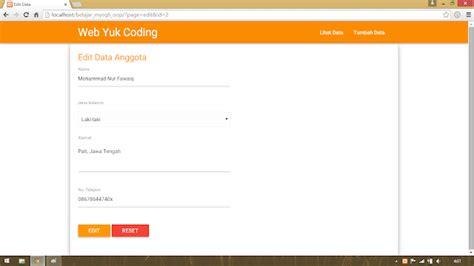 membuat website dengan php oop membuat crud dengan php mysqli versi oop style