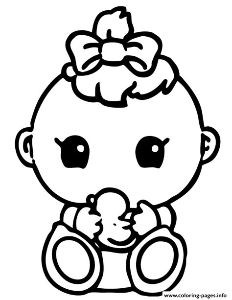 coloring page it s a baby girl cute baby girl squinkies coloring pages printable