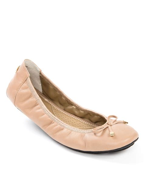 me shoes flats me halle leather ballet flats in beige lyst