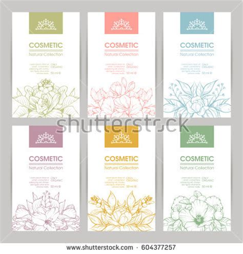 Vector Set Templates Packaging Cosmetic Label Stock Vector 604377257 Shutterstock Skin Care Label Templates