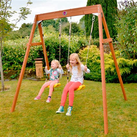 suttons of swing plum double swing childrens swings garden equipment