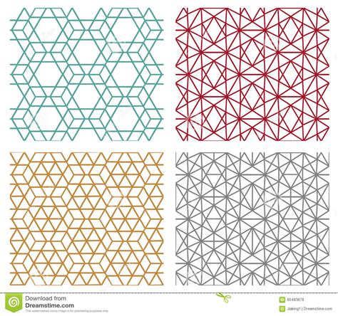 hexagonal pattern stock vector geometric seamless line patterns in hexagon concept stock