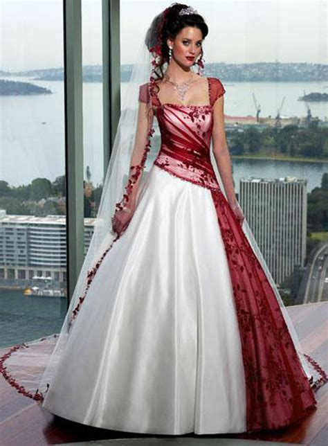 Hochzeitskleid Rot by Wedding Plan Mixed White And Wedding Dress