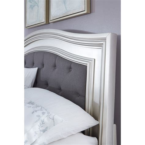 Silver Padded Headboard by King Panel Bed With Arched Upholstered Headboard And