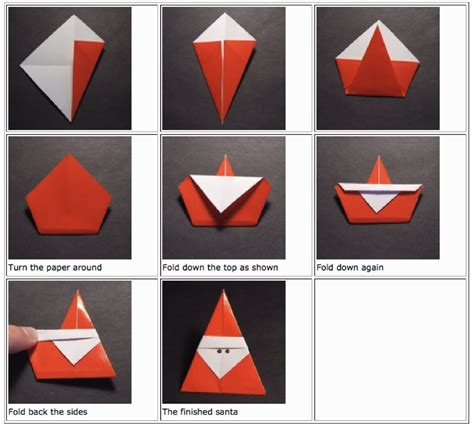 How To Make A Santa Origami - origami jasminesjapanese