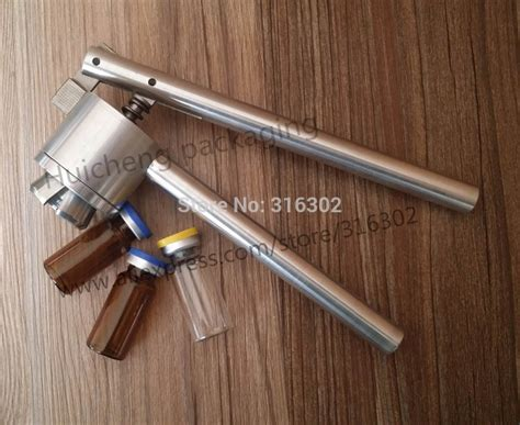 stainless steel vial 2015 new vial crimper 20mm glass bottle sealing machine