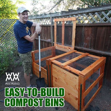 how to make a compost bin diy woodworking projects