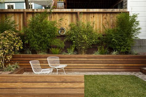 Counter Height Kitchen Island Table Planter Fence Landscape Modern With Wood Fence Wood Fence