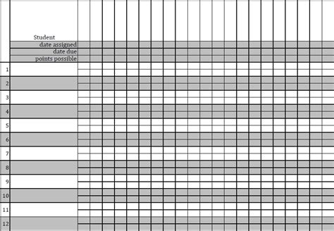 blank gradebook template gradebook template printable search results calendar 2015