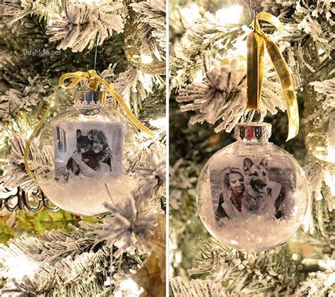 Handmade Photo Ornaments - snowglobe photo ornament diy tutorial tidymom 174