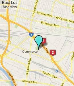 commerce california map commerce ca hotels motels see all discounts