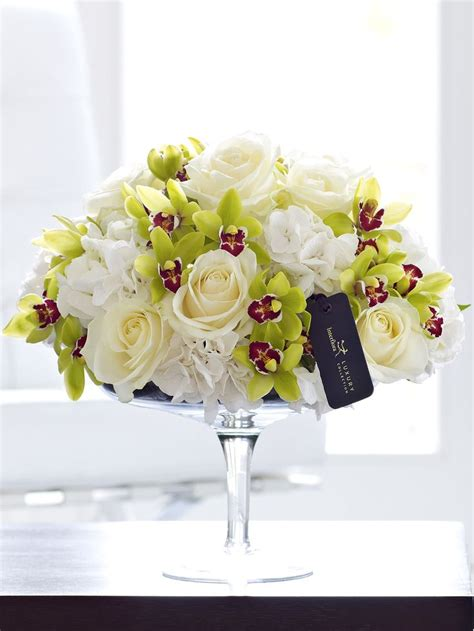 Orchid Arrangement Jadore White With Mini White Orchids Luxury Hydrangea And Mini Cymbidium Orchid