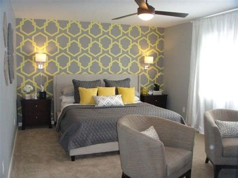 yellow accent wall bedroom grey and yellow wallpaper google search home design