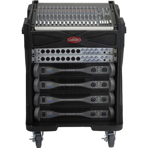 skb cases 1skb19 r1010 roto molded gigrig mixer rack