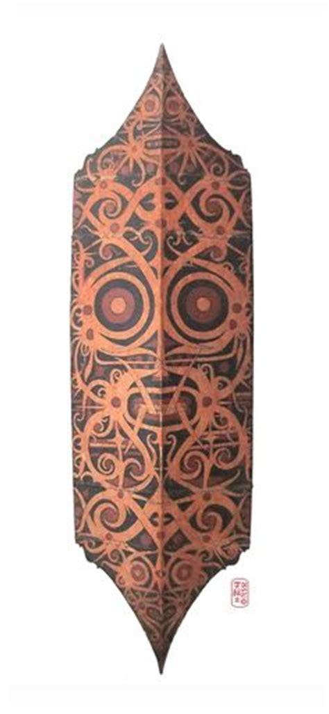 Be Proud Of Indonesia Batik Tribal Glow 1 borneo flares hollow horn plugs with bunga terung dayak tribal eggplant flower design