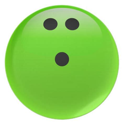 Lime Green Kitchen Ideas lime green bowling ball party plate zazzle