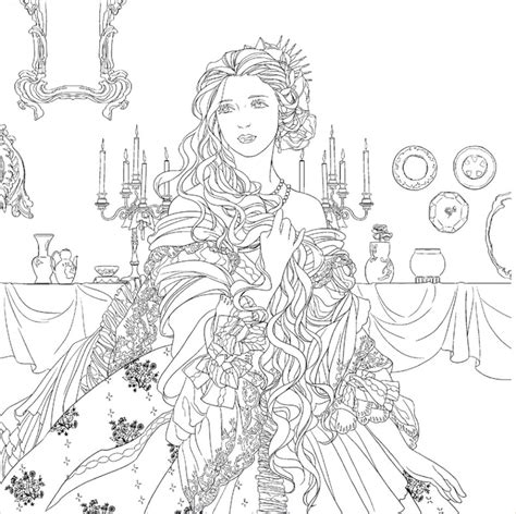 secret garden coloring book page one and the beast colouring book secret garden style