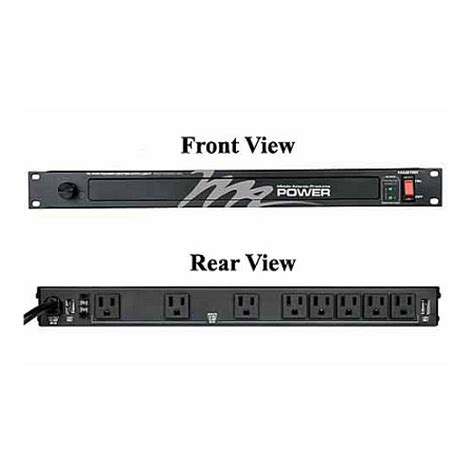 rackmount light with power distribution middle atlantic