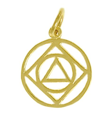 aa amp na anonymous recovery dual symbols pendant solid 14k