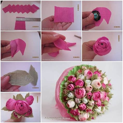 How To Make Flowers With Crepe Paper Step By Step - creative ideas diy chocolate crepe paper