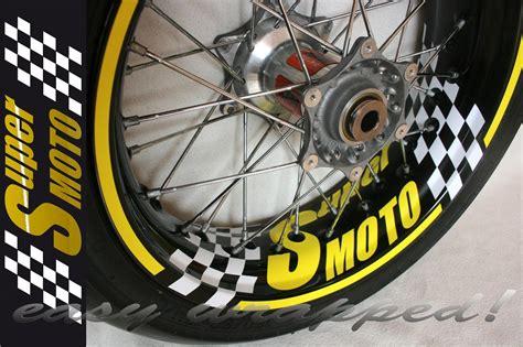 Ktm Motorrad Felgenaufkleber by Supermoto Felgenaufkleber Wunschtext Aufkleber Motorrad