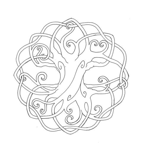 celtic tree of life cross printable coloring book tree