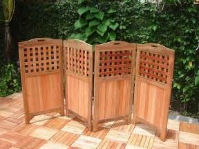 teak privacy screen v163